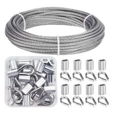 Stainless Steel Wire Rope Kit 7x7 Construction For 18 Hand Crimp Cable Railing