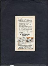 Vintage Barnstable Feed and SUPPLY Company Trade card Blotter
