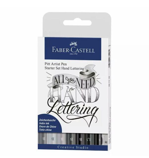 FABER-CASTELL Tuschestift PITT artist pen Black Set