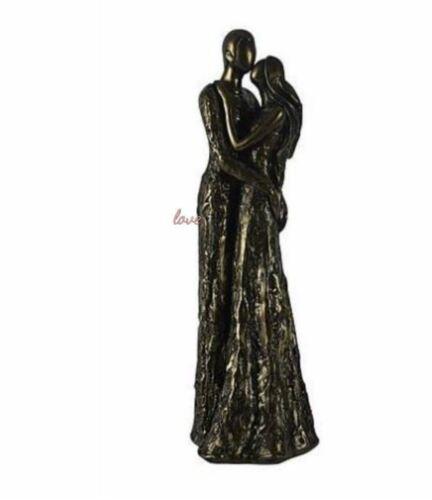 33 cm Lovely  Dancing Couple Resin Figurine Bronze Effect Ornament Gift