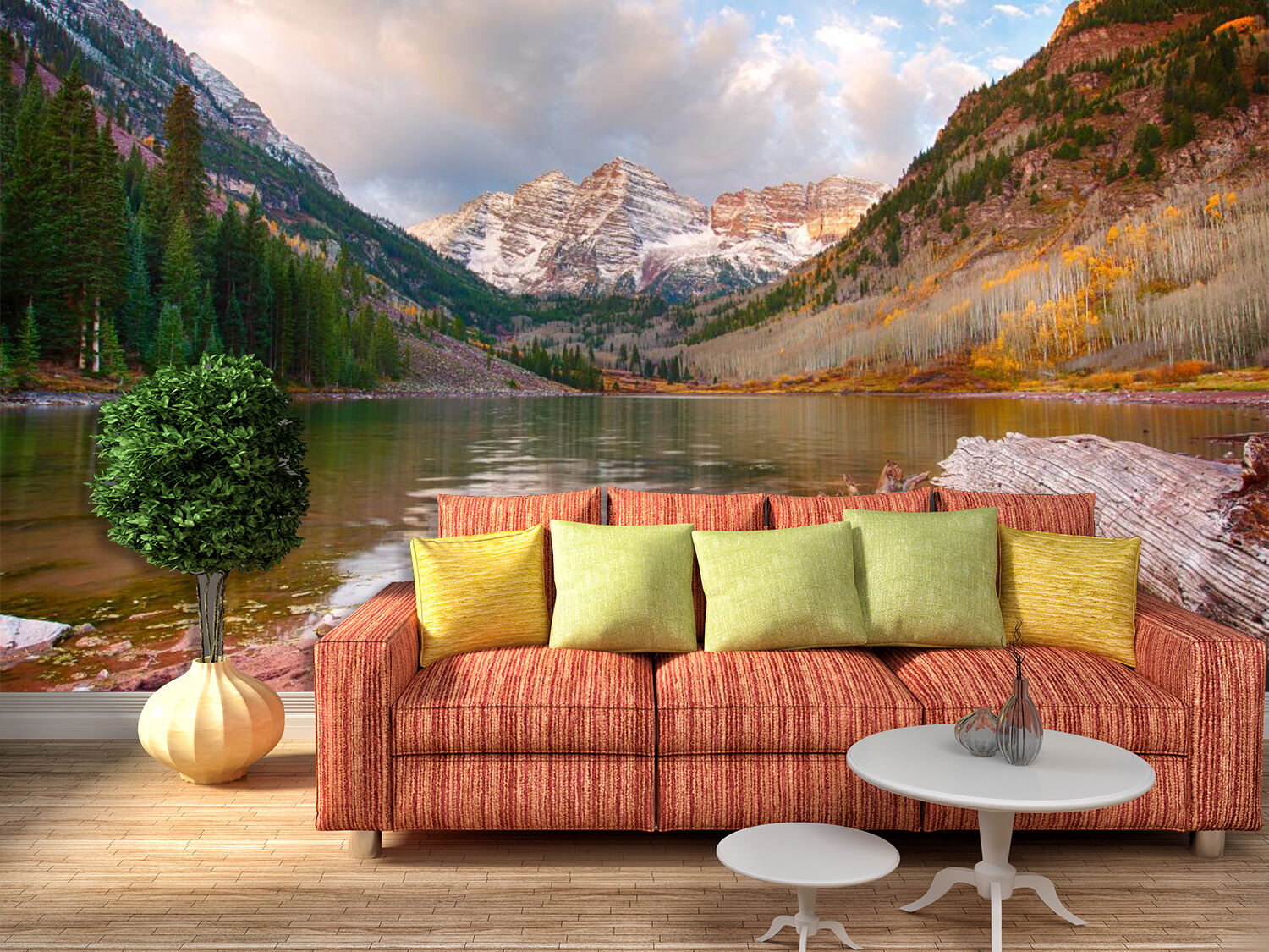 3D Mountain lake landscape wall Paper Print Decal Wall Murals AJ WALLPAPER GB