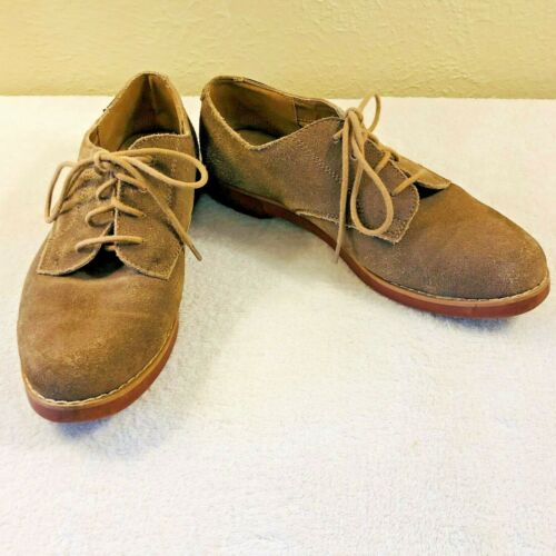 Vintage 1990/'s Tan Suede Leather Oxford Shoes Lace Up Shoes by G.H Bass /& Co Preppy Hipster Comfortable Size 9 Women/'s