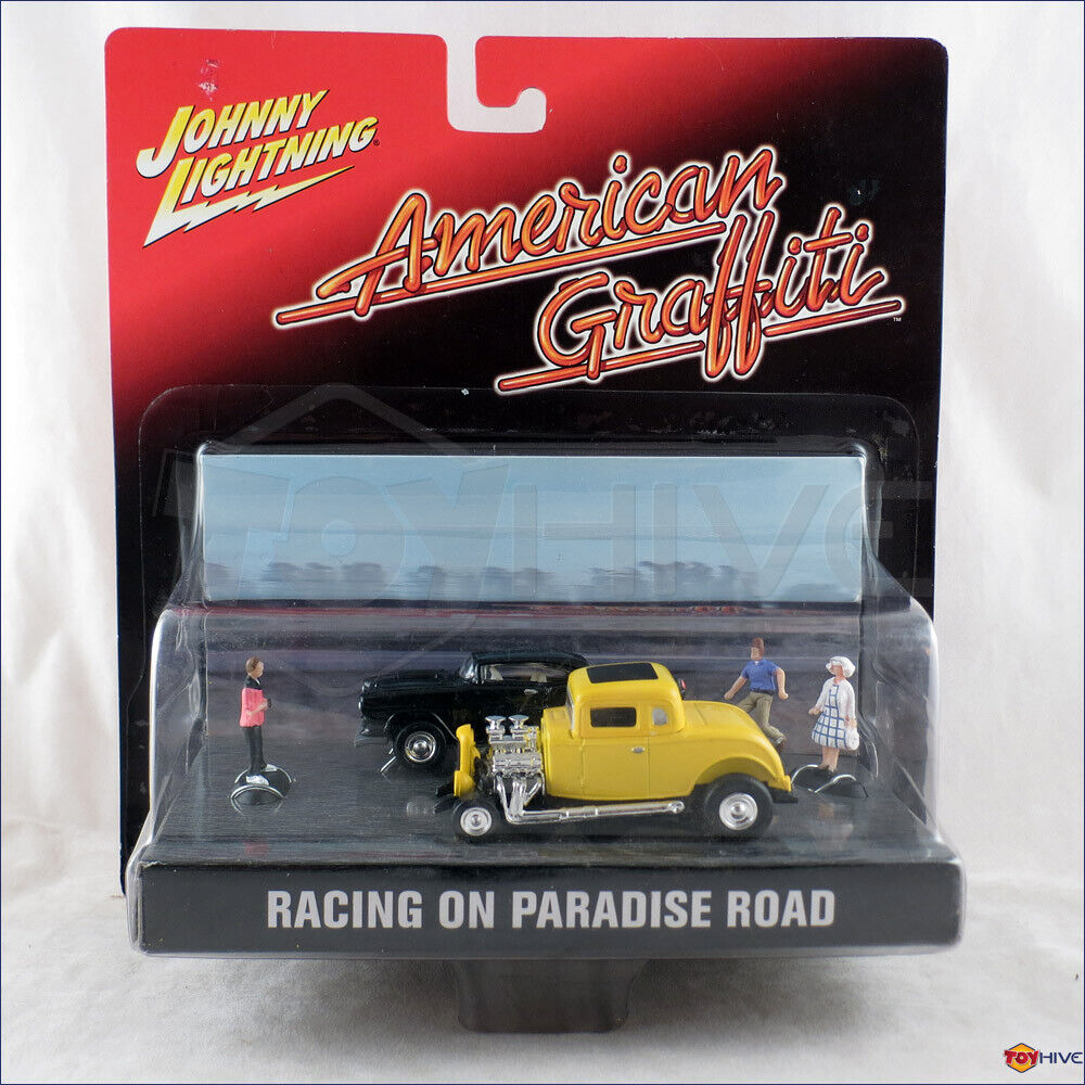 Johnny Lightning American Graffiti Racing on Paradise Road diorama chevy vs ford