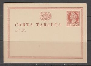 Chile-Stamps-1878-Postal-Card-Christopher-Columbus-2c-Brown-mint-slight-toning