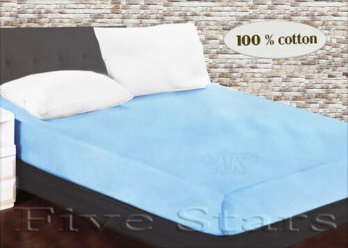 NEW House ® Fitted Sheet 90-100 x 200 CM Black 100/% Cotton Fitted Sheet