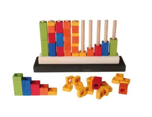 Grimm's Spiel und Holzdesign 42110 Zählstäbchen Steckspiel Stapelspiele