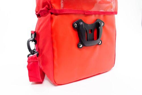Waterproof Bicycle Handlebar Bag w//Map Holder,Shoulder Strap,High Visibility Red
