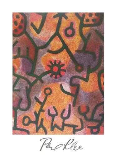Paul Klee Flora di Roccia Poster Kunstdruck Bild 60x80cm