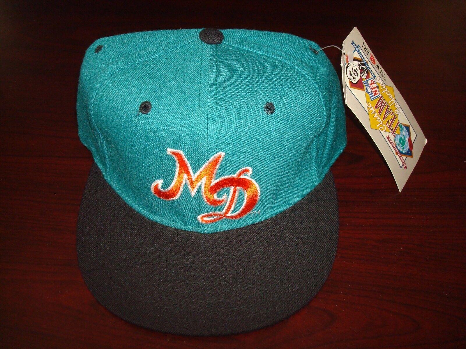 MIAMI NFL DOLPHINS MF MARINO TEAM NFL MIAMI NEW ERA FITTED SZ 7 3/8  1990S VINTAGE HAT CAP 5709d6