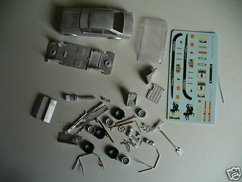 FORD ESCORT Mk2 voitures de rallye 1   43e échelle blancmetal kit par k & r répliques