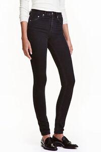 eeada187 Ladies H&M Skinny High Waist Super Stretch Trousers Jeans Slim Leg ...