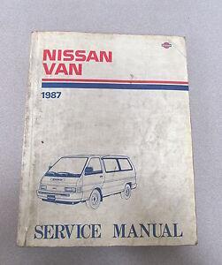 1987 nissan van service repair manual model c22 series ebay rh ebay com Maroon Nissan C22 Custom Nissan Vanette