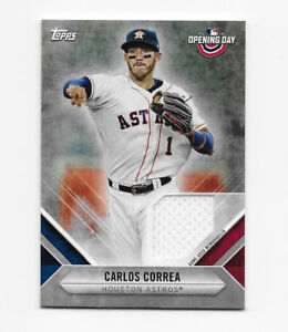 b05f627a9 Image is loading 2018-Topps-Opening-Day-Relics-Carlos-Correa-Houston-