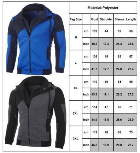 Men Hoodie Sports Coat Cardigan Jacket Casual Jogging Sweatshirt Overcoat Tops