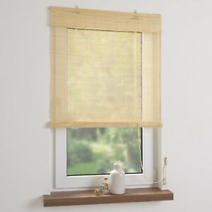 Bambusrollo Vorhang Bambus Rollo Holzrollo Jalousie Tur Fensterrollo