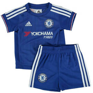 purchase cheap 530b4 7dc0b Details about Chelsea Baby Kit Home Shirt Shorts All Sizes Official Adidas  CFC Item 2015/16