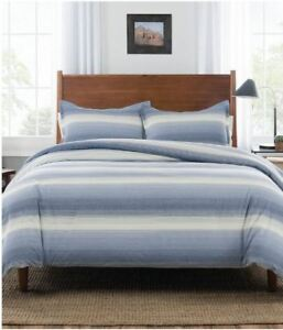 Pendleton-Ombre-Stripe-Comforter-Set-Denim-Size-Full-Queen