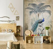 3D Blue Peacock Bird A248 Wallpaper Wall Mural Self-adhesive Andrea haase Amy