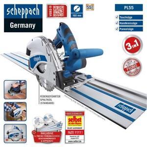 Scheppach-Tauchsaege-mit-Fuehrungsschiene-1200W-Handkreissaege-Tauchkreissaege-PL55