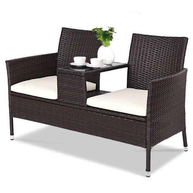 Garden Patio Furniture Wicker Seater Chair 2 Rattan Outdoor ...