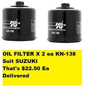 K/&N Oil Filter Suzuki GSXR600 2006-2010 KN138