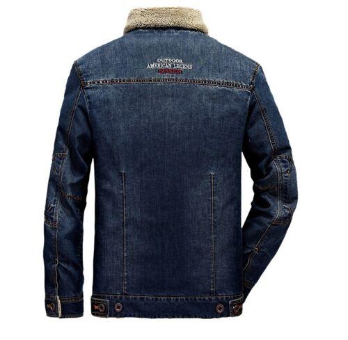Details about  /New Men/'s Jean jackets vintage Denim Jacket  Casual Cotton cowboy Coat XS-3XL
