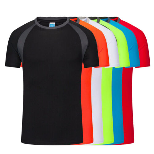 Men/'s T-Shirts Tops Sports Quick Dry Shirt Athletic Running Casual Tee Blouse