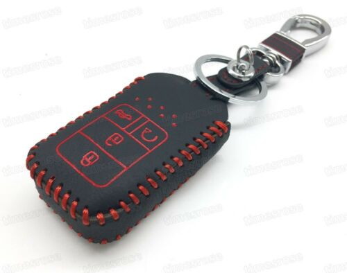 Leather Remote Car Key Cover Case Protector Holder Fob for Honda Civic 2016-2017