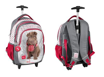 WunderschöNen Studio Pets Hund Hündchen Schultrolley Trolleyrucksack Schulranzen Schulrucksack QualitäT Zuerst Ranzen, Taschen & Rucksäcke