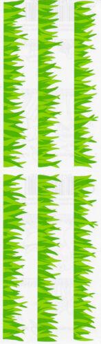 Turf Grossman/'s Stickers 4 Strips Green Grass Strip Grass Mrs