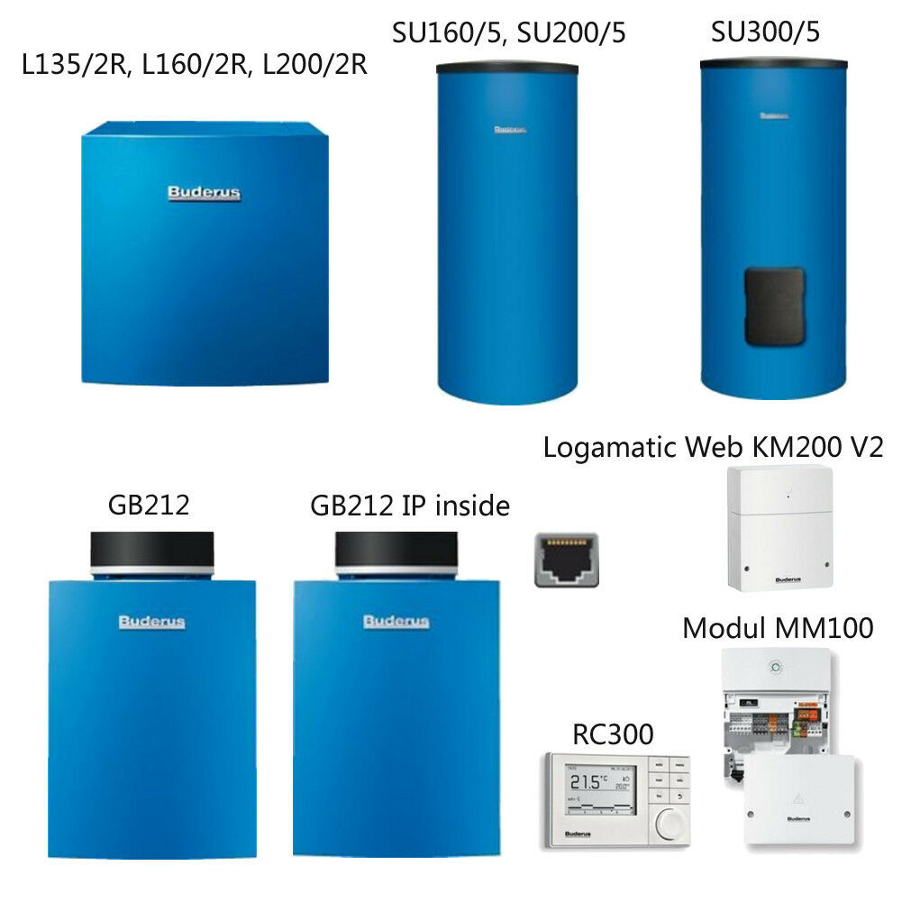 Buderus Logano plus GB212 Brennwert Kessel RC300 Logalux Trinkwasserspeicher