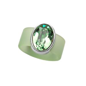 43352265308c Image is loading Olivia-Riegel-Swarovski-Peridot-Crystal-on-Light-Green-