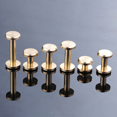 10mm Dia Solid Brass Chicago Screws Studs 4//5//6//7//8//10//12//15//20mm Binding Book