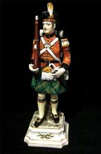 "Large 12.5"" Italian Porcelain model of a Scottish Soldier on Plinthe"