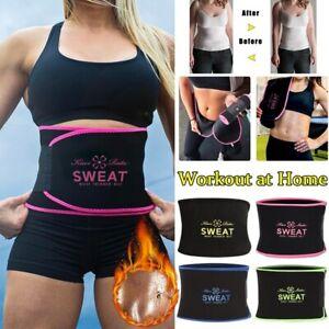 Waist Trimmer Belt Weight Loss Wrap Sweat Stomach Fat Burner Workout Body Shaper