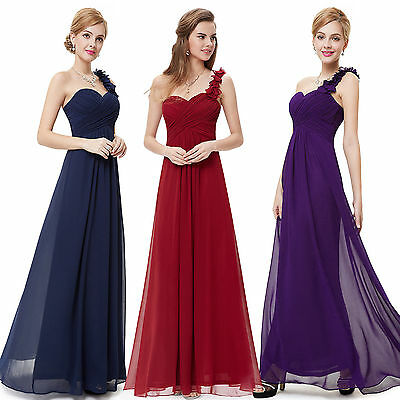 Brillant New Formal Chiffon Long Evening Ball Gown Party Prom Wedding Bridesmaid Dress Uk Nachfrage üBer Dem Angebot
