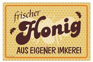 Honig-aus-eigener-Imkerei-Bienen-Waben-Imker-Druck-wetterfest-Nr-3231