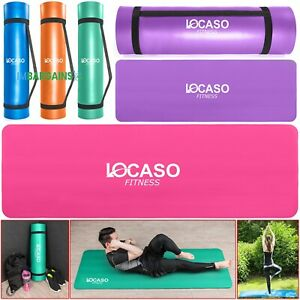 Yoga-Mat-for-Pilates-Gym-Exercise-Carry-Strap-15mm-Thick-Large-Comfortable-UK