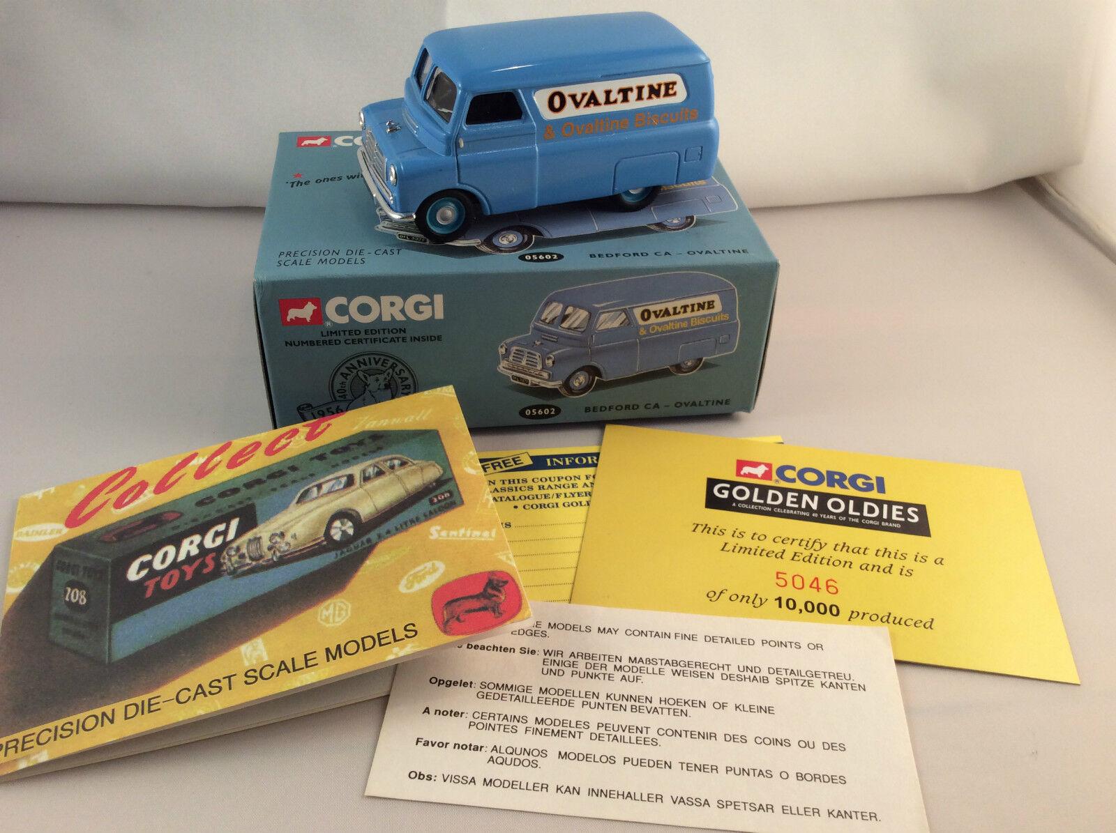 Corgi Toys Classics golden Oldies Bedford CA Ovaltine ovp Limited Edition