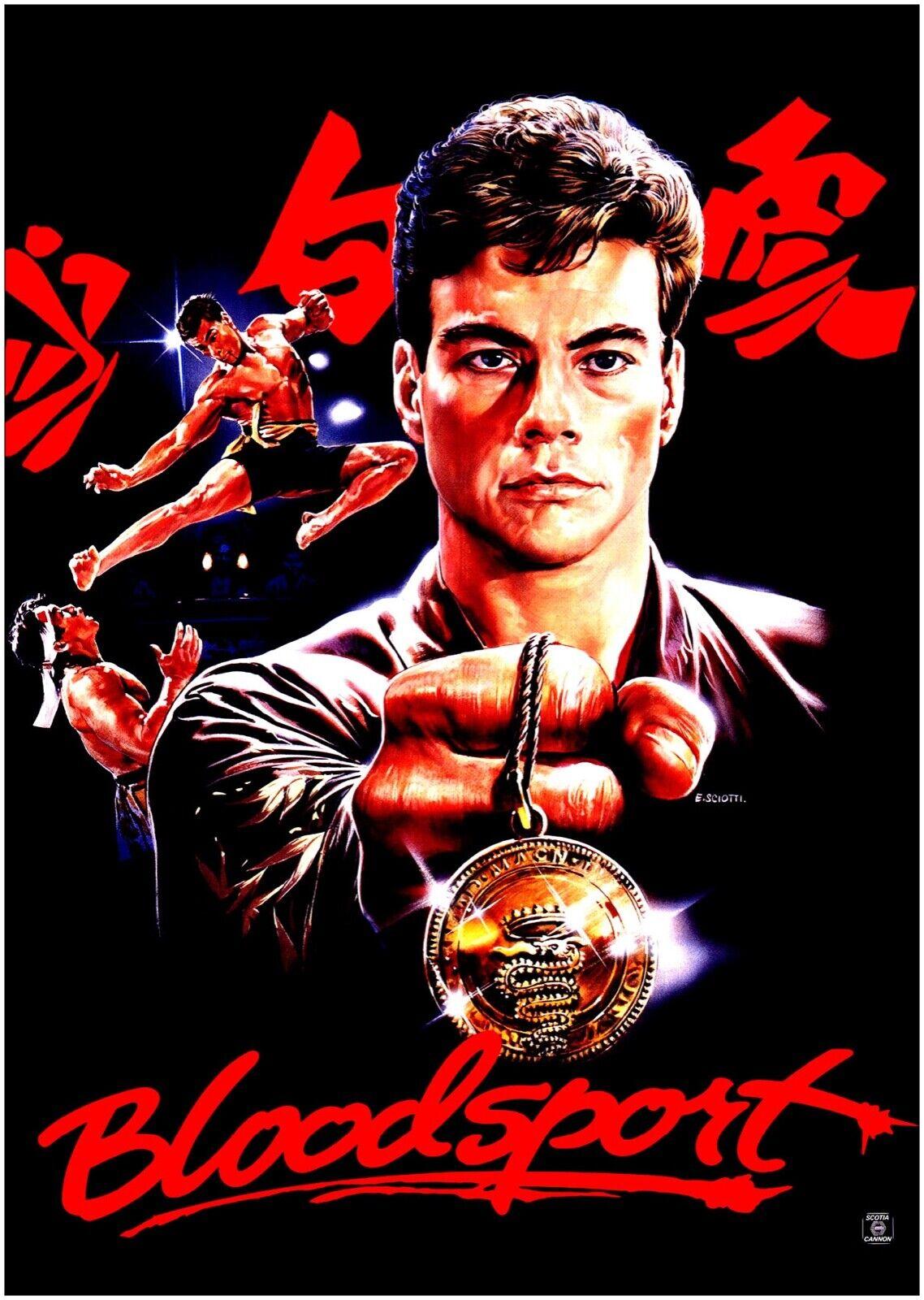 Bloodsport Van Damme Classic Movie Large CANVAS Art Print A0 A1 A2 A3 A4