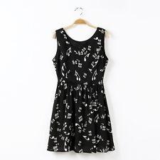 Fashion Women Lady's Summer Sleeveless Dresses Chiffon Casual Wear Size L