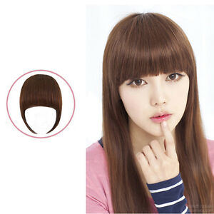 Pretty Girls Clip On Clip In Front Hair Bang Fringe Hair Extension
