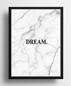 Inspirational word quote dream marble poster print wall art image is loading inspirational word quote dream marble poster print wall m4hsunfo