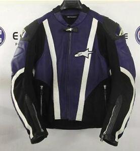 Alpinestars Motorcycle Jacket >> Alpinestars Blue Smx Air Flo Leather Motorcycle Jacket Eu 50 Uk 40