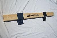 Drop Open Bar Security Door Lock Brackets Fits 2x4 Boards 3 Wide 1 Pair