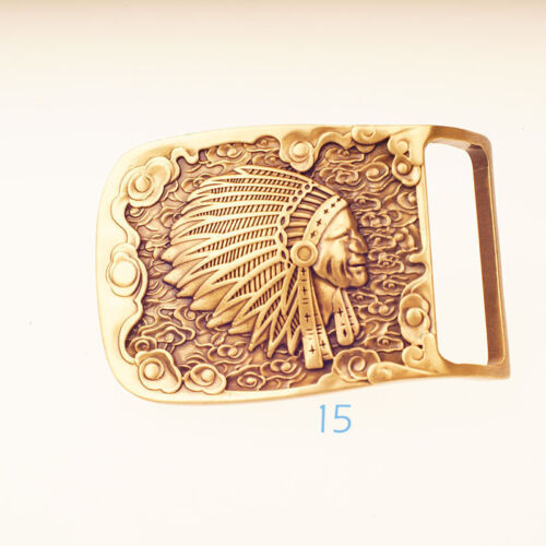 Artisic Design Quality Solid Brass Pin belt 40mm Buckle Leather craft DIY Luxury