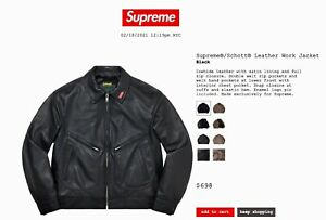 Supreme Leather Men's Jacket, Black XL 2021