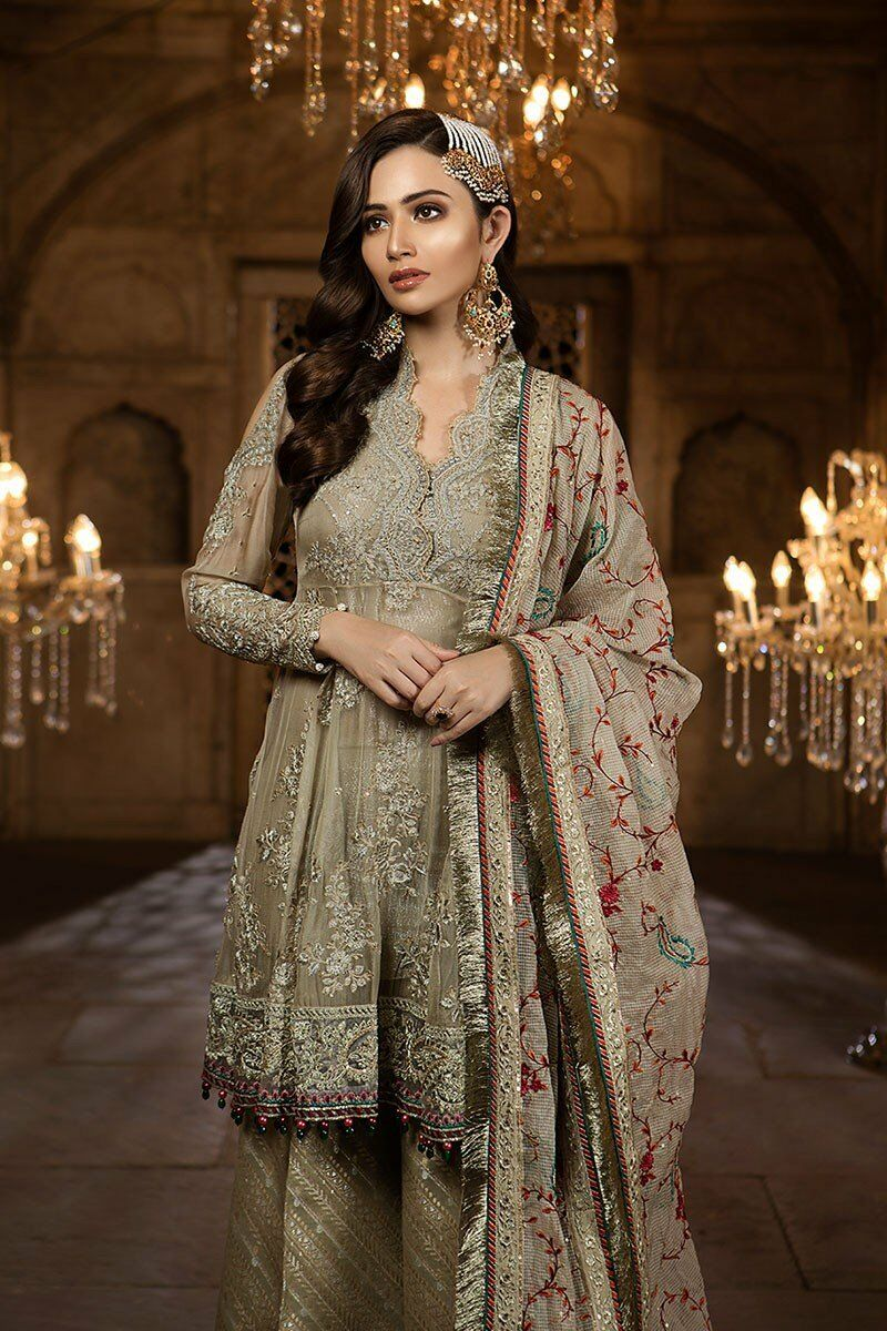 Maria B MBROIDERED Eid Collection 2018 Design BD-03