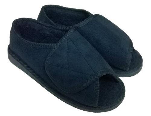 Extra Breit Diabetiker Pantoffeln Damen Herren Damen Klettverschluss Size 3-12