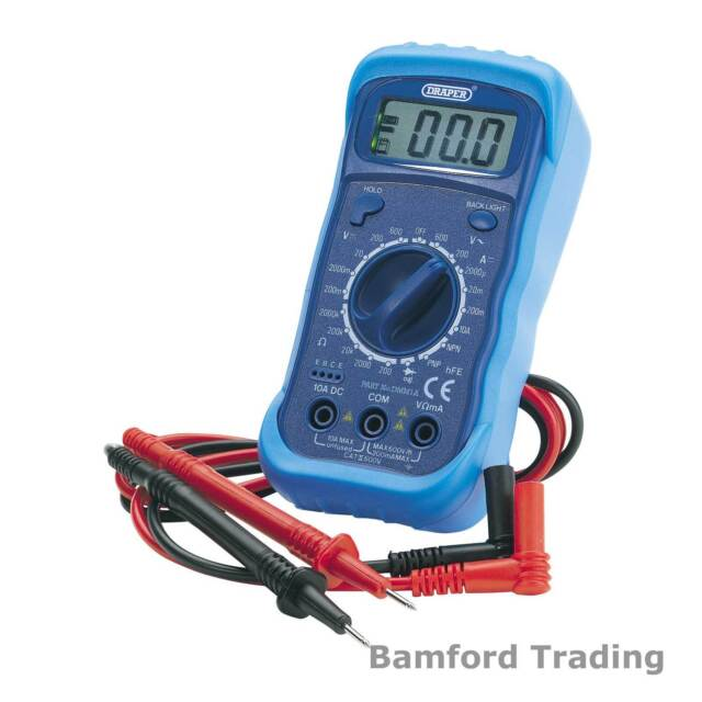 Draper 60792 DMM1A Digital Multimeter with Light DMM Electrical Test Meter Tool